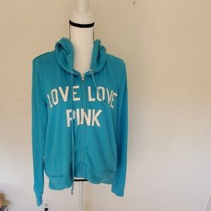 Pink Victoria Secret Hoodie, Size: Medium